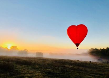 Love heart balloon Hunter valley